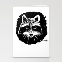 racoon Stationery Cards featuring Racoon by leart