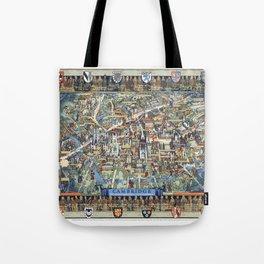 Cambridge University campus map Tote Bag