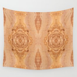 Olive wood surface texture abstract Wall Tapestry
