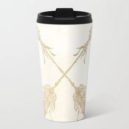 Tribal Arrows Gold on Paper Travel Mug