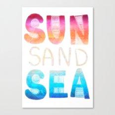 SEA SAND SUN Canvas Print
