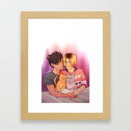 Cuddling Kuroken Framed Art Print