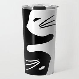 Yin yang cats Travel Mug