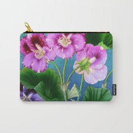 Pansies on Blue Carry-All Pouch