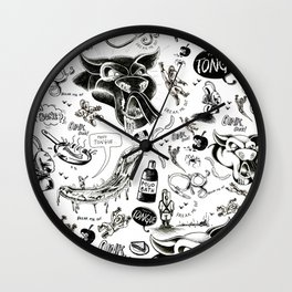 Pigs Freak Me Out (Pattern) Wall Clock