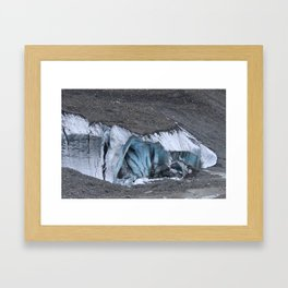 Columbia Icefield Glacier Cave Framed Art Print