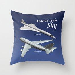 Legends of the Sky Throw Pillow