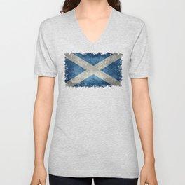Flag of Scotland or Scottish Flag Unisex V-Neck
