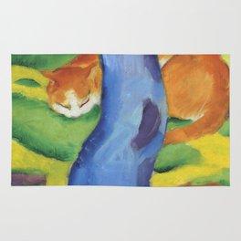 """Franz Marc """"Children's Picture: Cat behind a Tree (Kinderbild: Katze hinter einem Baum)"""" Rug"""