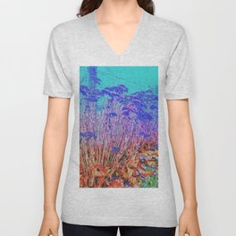 Sedum and Turquoise Unisex V-Neck