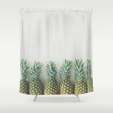 It's All About the Pineapple Shower Curtain