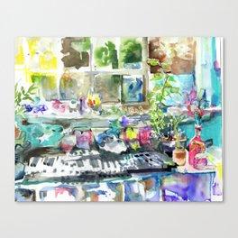 sunlight upon windowsill Canvas Print