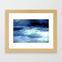 Among the waves (1898) Framed Art Print