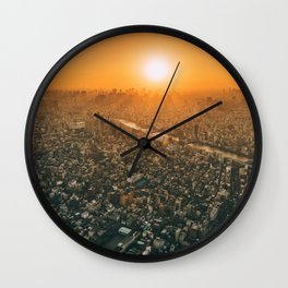City and the sky Wall Clock