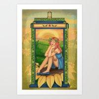 amy pond Art Prints featuring Amy Pond Art Nouveau by rointheta