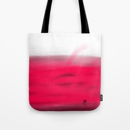 Pink Fields Abstract Painting - Dreaming in Nature Tote Bag