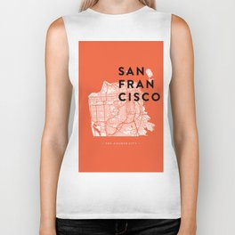 San Francisco Map 04 Biker Tank