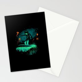 Space surfer art Stationery Cards