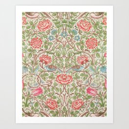 William Morris - Roses - Digital Remastered Edition Art Print