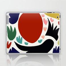 Birds in the sun minimal art abstract pattern decorative Laptop & iPad Skin