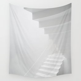 White staircase Wall Tapestry