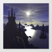 castle Canvas Prints featuring castle by giancarlo lunardon
