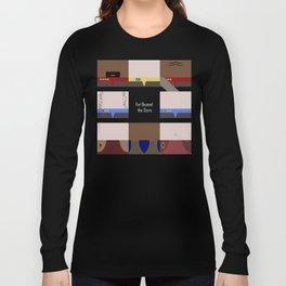 DS9 - Far Beyond the Stars - square - Minimalist Star Trek DS9 Deep Space Nine - Crew Long Sleeve T-shirt