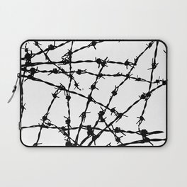 Black and White Barbed Wire Laptop Sleeve