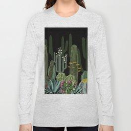Cactus Garden at Night Long Sleeve T-shirt