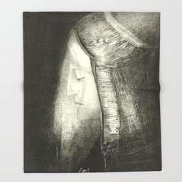"Odilon Redon ""Profile of Light (Profil de lumière)"" Throw Blanket"