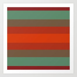 Rust Turquoise Spice - Color Therapy Art Print