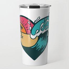 Wave Heart Travel Mug