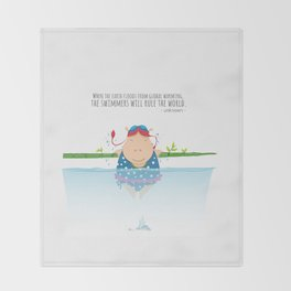 Tifanny - Swimmer Throw Blanket
