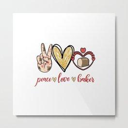 peace-love-Baker Metal Print