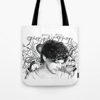tattoos Tote Bags featuring Tattoos - L by wreckthisjessy