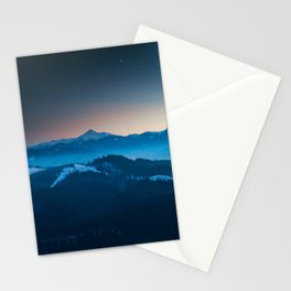 Foggy mountains panorama Stationery Cards
