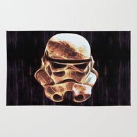 stormtrooper Area & Throw Rugs featuring Stormtrooper by DisPrints