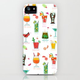 Happy hour..s cocktails illustration iPhone Case