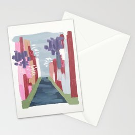 Spring Abstract 1 Stationery Cards