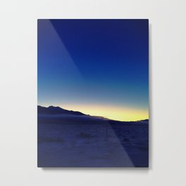 Winter Gradient Sunrise Metal Print