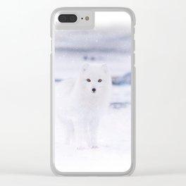 Artic Fox Eyes Clear iPhone Case