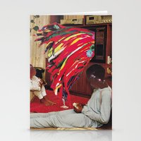 tv Stationery Cards featuring Television by Lerson
