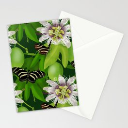 Zebra Longwing visits Passionflower Vine Stationery Cards