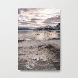 Cold Flipflops Metal Print