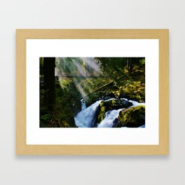 Sol Duc Falls Light Framed Art Print