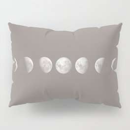 Moon Phases in Taupe Pillow Sham