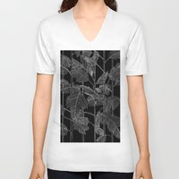 palms V-neck T-shirts featuring Palms by Robert Høyem