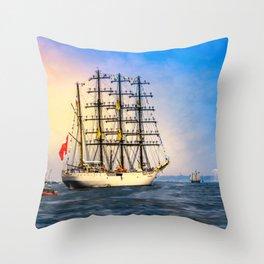 Sail Boston - Union Throw Pillow