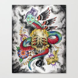 Guarding the Visions Canvas Print