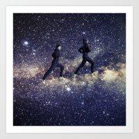 running Art Prints featuring Running by Cs025